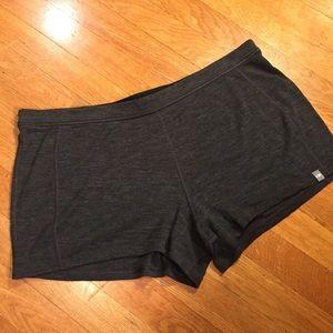 Icebreaker 100% wool ribbed night baselayer shorts